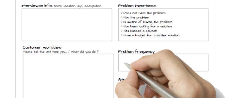 Problem interview template